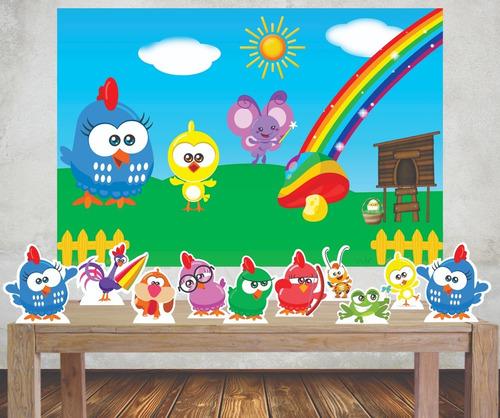 Imagem 1 de 5 de Painel Poli Banner Galinha Pintadinha +displays Kit Festa M