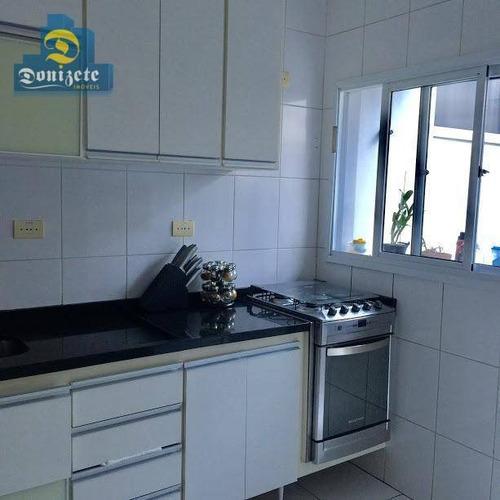 Sobrado Com 3 Dormitórios À Venda, 137 M² Por R$ 695.000,00 - Vila Homero Thon - Santo André/sp - So2035