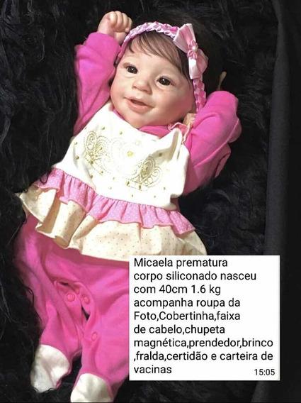 Bebê Prematuro Micaela Corpo Siliconado
