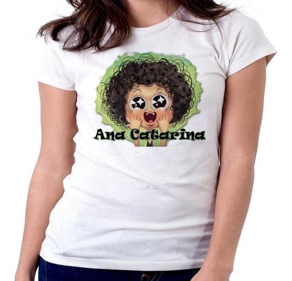 Blusa Feminina Camiseta Baby Look Irmão Do Jorel Ana Catarin