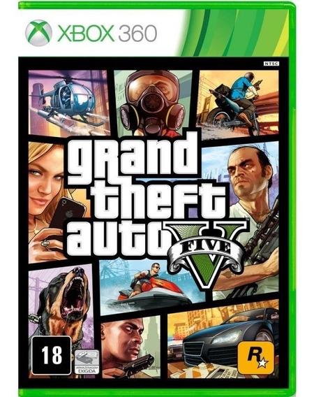 Gta 5 Grand Theft Auto Gta V Xbox 360 Mídia Física Lacrado!
