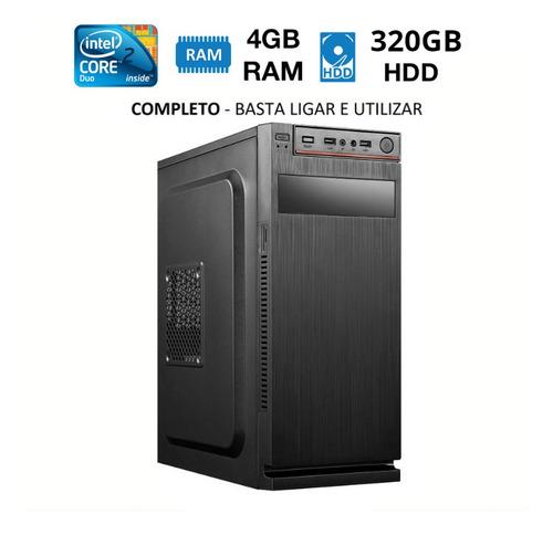 Cpu Core 2 Duo 320gb 4gb Win7 Nova Até 12x No Cartão