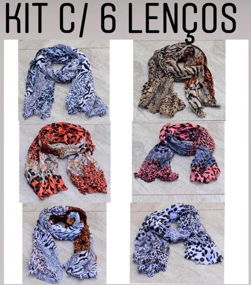 Kit Com 6 Lencos - Kt30 // R$8,05 Cada Kit De Lenços