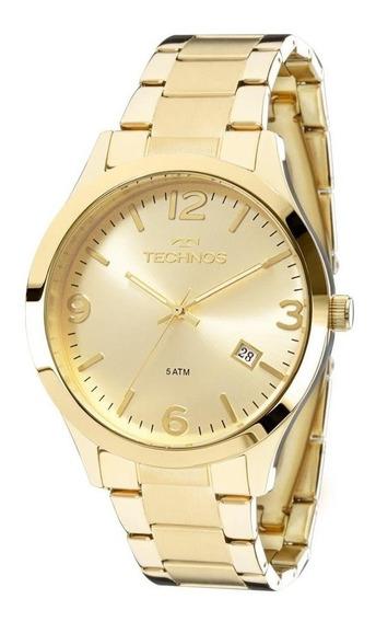 Relógio Dourado Feminino Technos Aço 2315acd/4x Original C/ Caixa