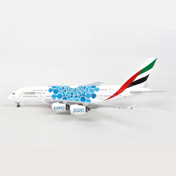 Miniatura Avião Emirates A380 Expo 2020 1/400 Gemini Jets