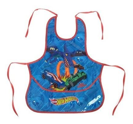 Avental Infantil Azul Hot Wheels Dino Wipeout Luxcel