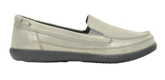 Tênis Crocs Walu Shimmer Leather Loafer Com Brilhos