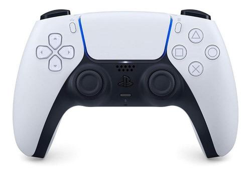 Imagen 1 de 3 de Control joystick inalámbrico Sony PlayStation DualSense CFI-ZCT1 white y black