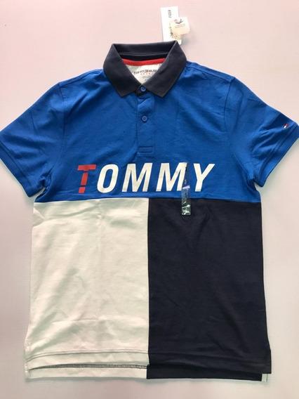 Playera Para Caballero Tipo Polo Marca Tommy Original Sad