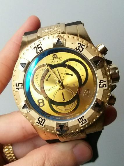 Relógio Dourado Masculino Pulseira De Borracha Resistente