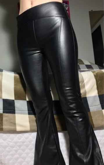Calça Flare Maxi Leather Amaro Pp