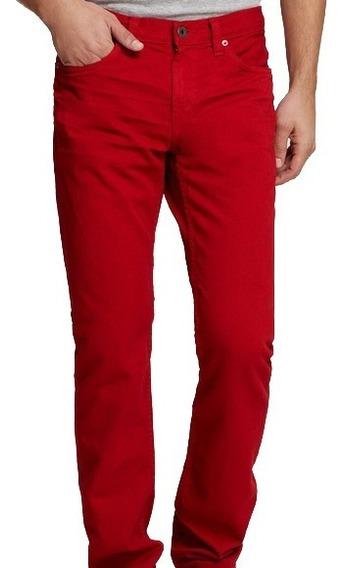 Skinny Jeans Abercrombie A&f Talle 33x32 Nuevo Original Rojo