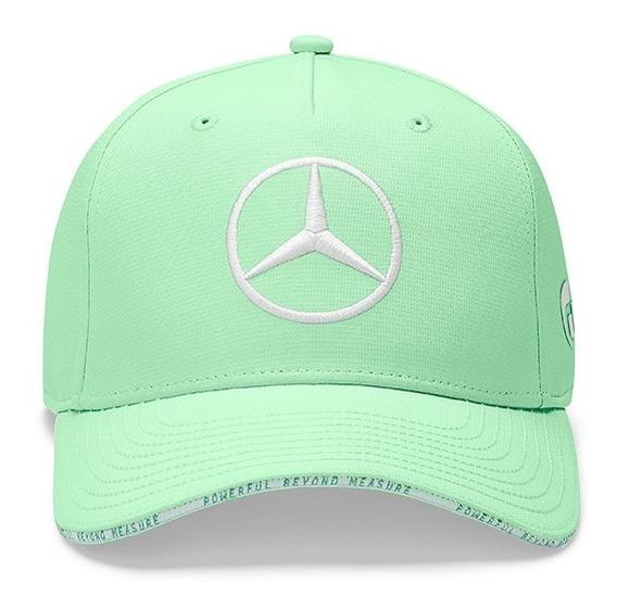Gorra F1 Mercedes Benz Bottas Lewis Hamilton Bélgica Verde