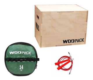 Pack Crossfit Ruce, Wall Ball + Box + Rope Wodpack