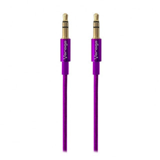 Cable De Audio Vorago Cab-108 3.5 Mm Redondo Metalico Negro
