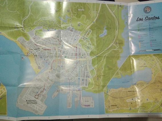 Mapa Gta 5 Los Santos Ps3 Ps4 Xbox Mapa Impecável