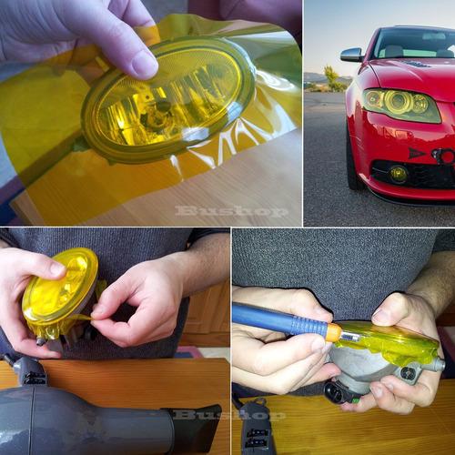 Vinilo Amarillo Antiniebla Luces Faros Ópticas Autos Oracal