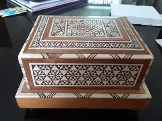 Caja Musical Antigua Marruecos Asia Taracea Marqueteria Marf