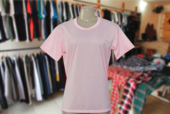 Camiseta P/ Sublimação-100%poliéster- Rosa E Cinza-lote 30pç