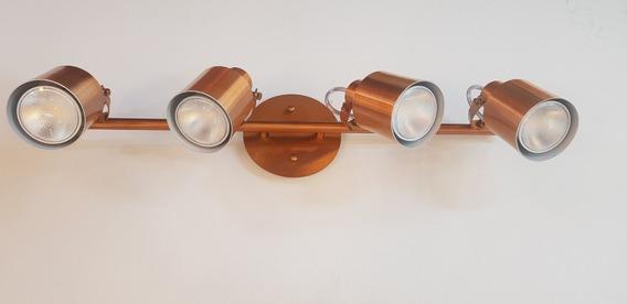 Spot Trilho Flex 418/4 Spotline Alumínio Cobre