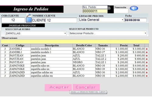 solamente huella amortiguar  Ventas - Pedidos - Factura - Compras - Stock- Online. Demo   Mercado Libre