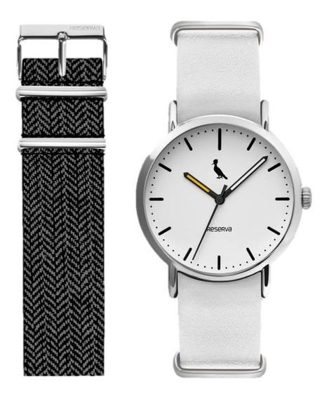 Relógio Reserva Troca Pulseiras Branco-mesclado Re2035ad/2b