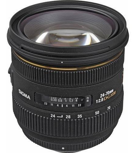 Lente (usada) Sigma Para Canon 24/70 2.8 If Ex Dg Hsm