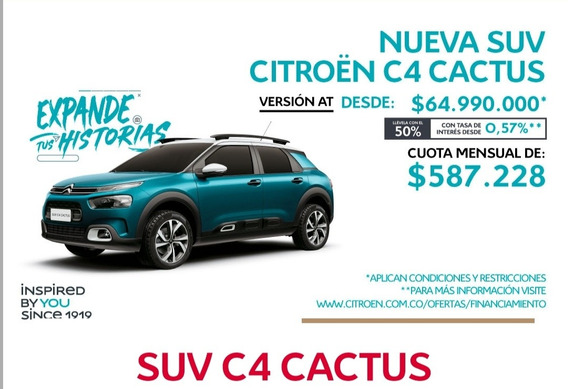 Nueva C4 Cactus, Financiación Con Tasas Desde El 0.57%