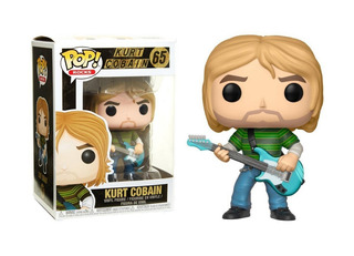 Funko Pop Rocks Kurt Cobain #65 Regalosleon