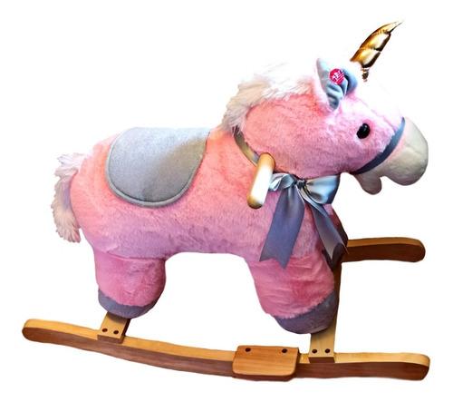 Caballito Unicornios Rosado Balancin