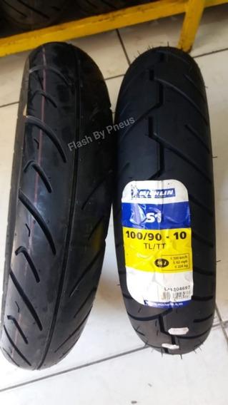 Par Pneu Honda Lead 110 Cst 90/90-12 + Michelin 100/90-10