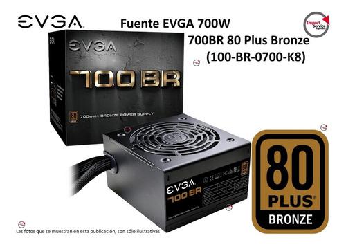 Imagen 1 de 10 de Fuente Evga 700w 700br 80 Plus Bronze (100-br-0700-k8)
