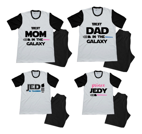 Pijama Combo Familiar Star Wars Papa Mama Hijo