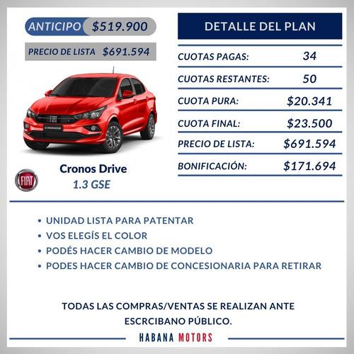 Fiat Cronos Adjudicado 100% Anticipo $519.900 Y Cuotas