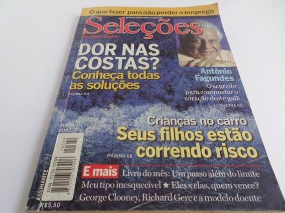 Revista Seleções Antonio Fagundes Ano Março 2002 Antiga