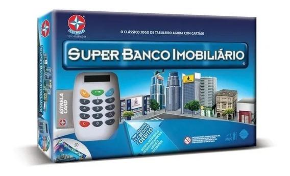 Jogo De Tabuleiro Super Banco Imobiliario Com Cartão Estrela