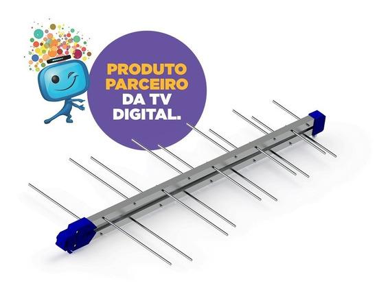 Antena Digital Lte 20 Elementos Prohd Mastro+10 Mts Cabo