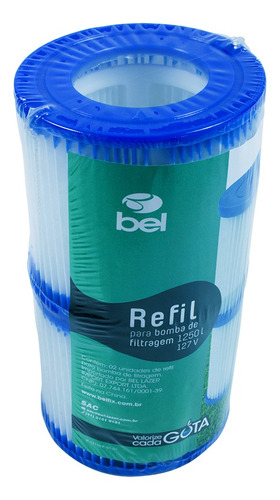 Refil P/ Filtro 1250 L/h 127/220v C/ 2  Bel