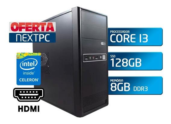 Computador Intel Core I3 3.0 8gb De Memoria Ssd 128gb