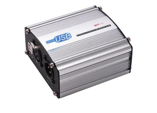 Imagen 1 de 6 de 48v Phantom Power Supply Box Para Micrófono De Condensador