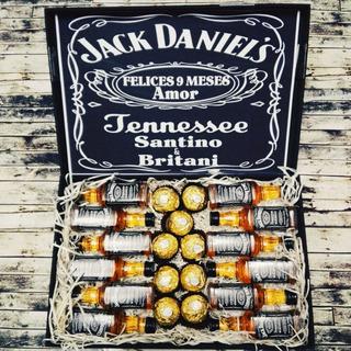 Regalos Con Jack Daniels Y Chocolates Aniversario Cumpleaños