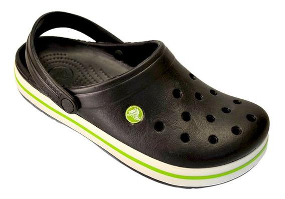 Crocs Originales Sueco Crocband Sandalia Promo Negro