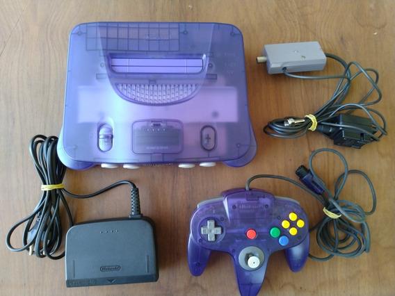 N64 Sabores Uva Nintendo 64 Sem Jogos Número Série Acessorio