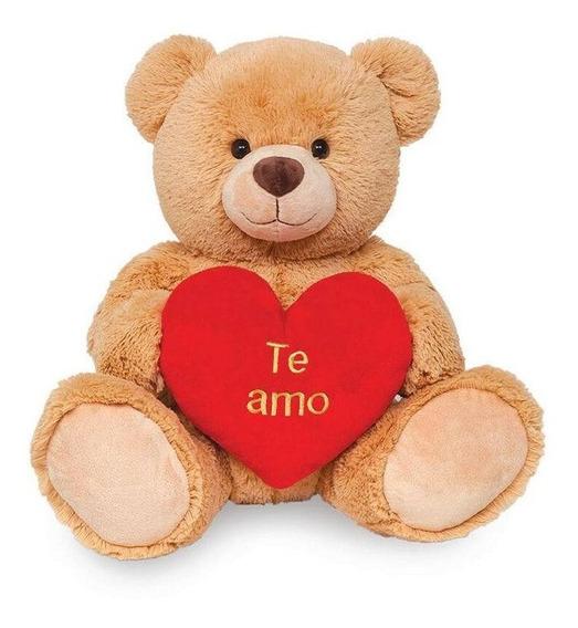 Pelúcia Ursinho I Love You Te Amo 45 Cm - Buba Toys