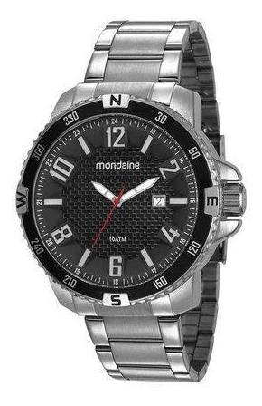 Relógio Mondaine Visor Texturizado Prata 53647g0mvns2