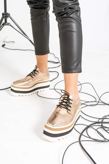 Zapatos Zapatillas Acordonados Con Plataforma
