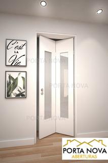 Puerta Rebatible Libro Plegable En Mdf Lisa Ciega 70x200