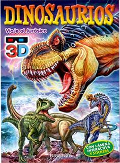 Lote De 4 Libros 3d. Dinos, Granja, Cuerpo Humano, Dragones