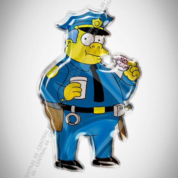 Adesivo Desenho Os Simpsons Chief Wiggum Resinado