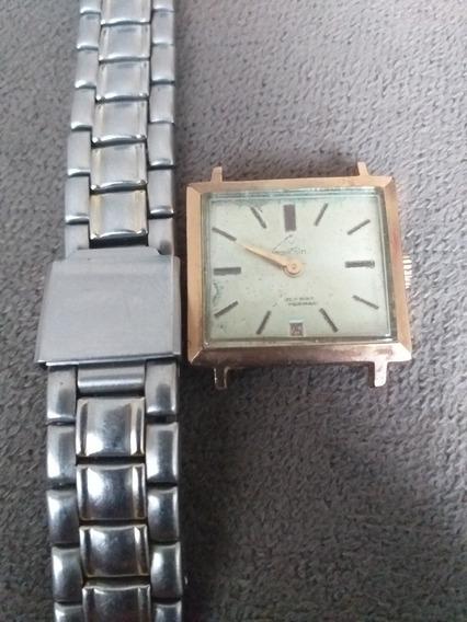 Lindo Relógio Mondaine Corda Inquebrável Funcionando Quadrad